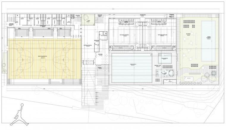 入口层平面图 access floor plan-Vallehermoso体育中心第11张图片