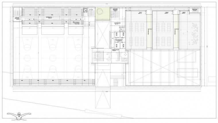一层平面图 first floor plan-Vallehermoso体育中心第13张图片