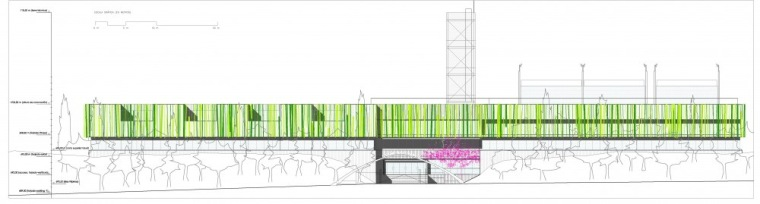 主要立面图 main elevation-Vallehermoso体育中心第15张图片