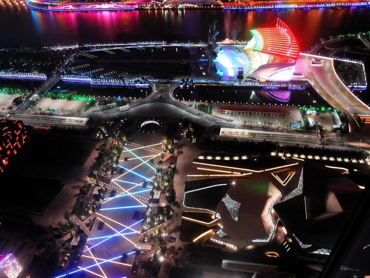 广州新中轴花城广场景观照明设计