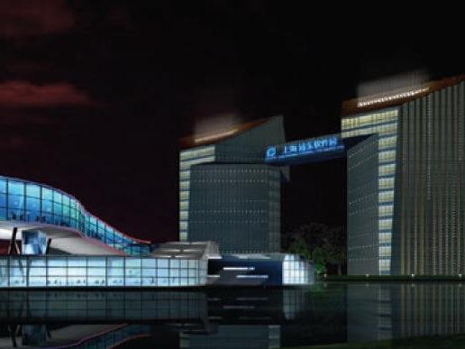 昆山浦东软件园夜景照明