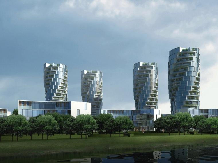 中新天津生态城开发区地块8,17规划方案