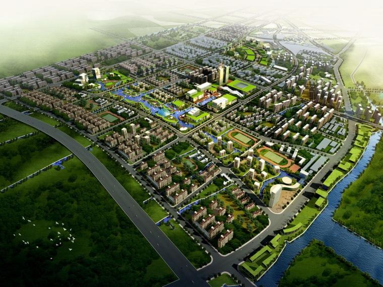 上海嘉定区城北站大型居住社区
