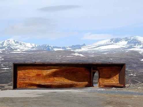 挪威野鹿中心亭子