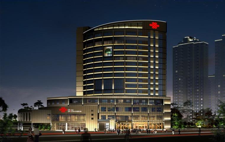 福建省联通信息广场建筑夜景照明设计