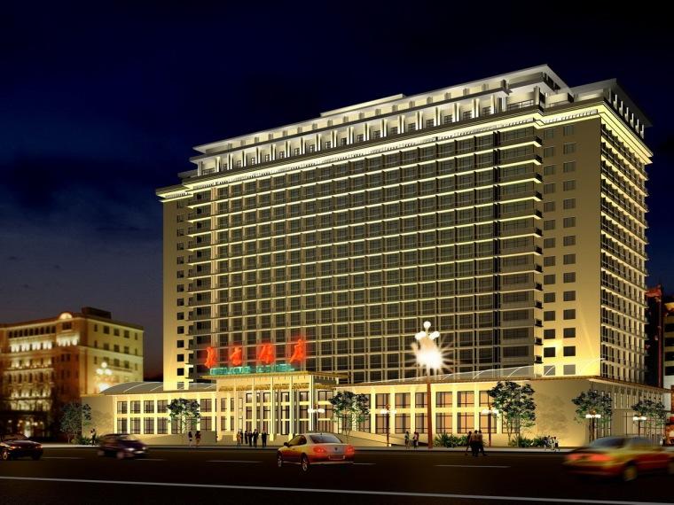 北京饭店夜景设计