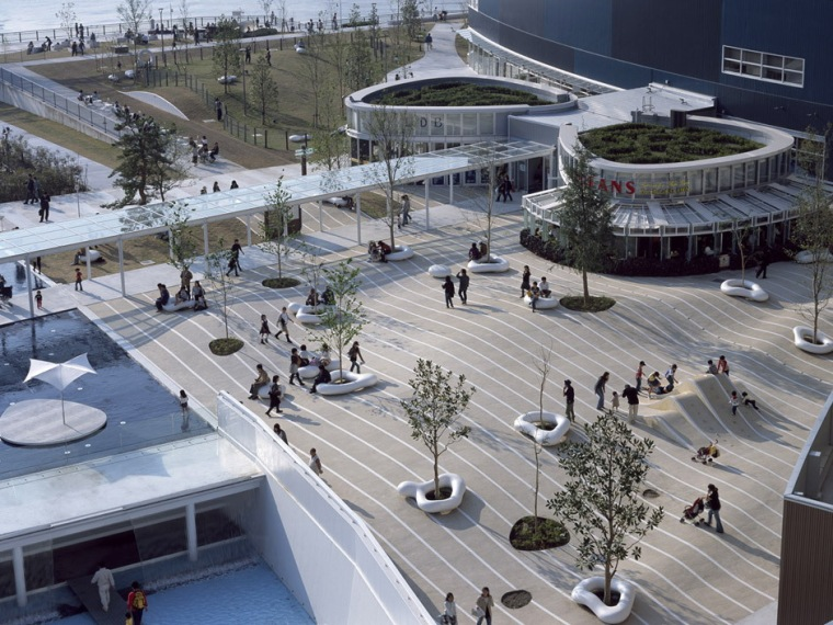 日本东京江东区的LALA码头场地规划