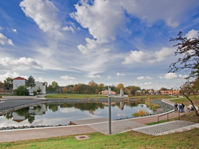 德国Stabfurt城镇的中心公园