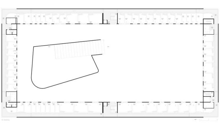 二层平面图 first floor plan-里斯本音乐学院第2张图片