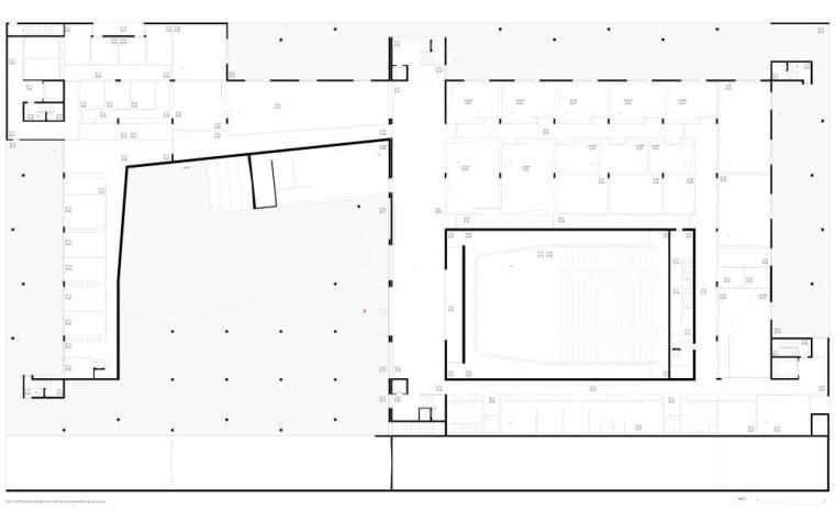 首层平面图 ground floor plan-里斯本音乐学院第5张图片
