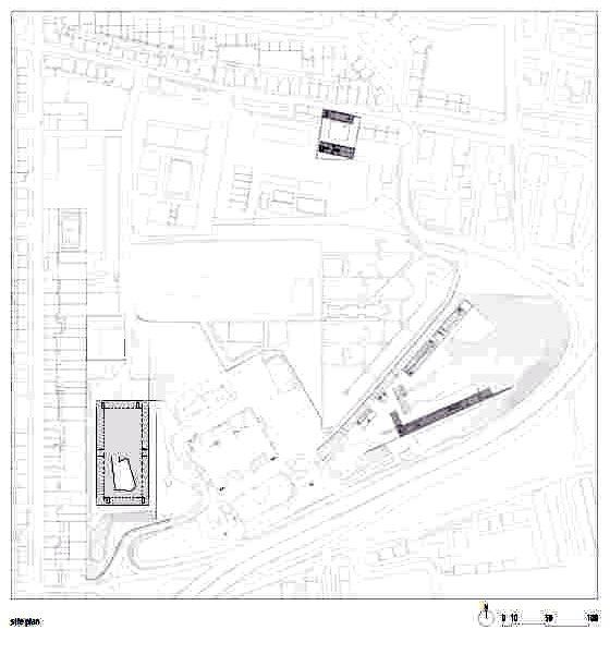 位置平面图 site plan-里斯本音乐学院第6张图片