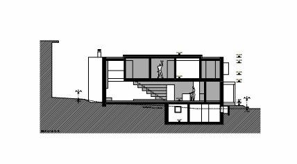 剖面图01 sections01-圣维塔莱河住宅第18张图片