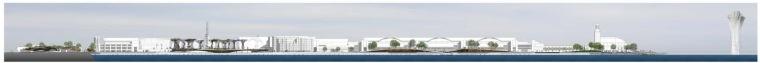 立面图 Elevation-芝加哥海军码头重建方案第2张图片