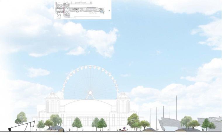 剖面图02 Section02-芝加哥海军码头重建方案第9张图片