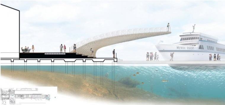 剖面图08 Section08-芝加哥海军码头重建方案第15张图片