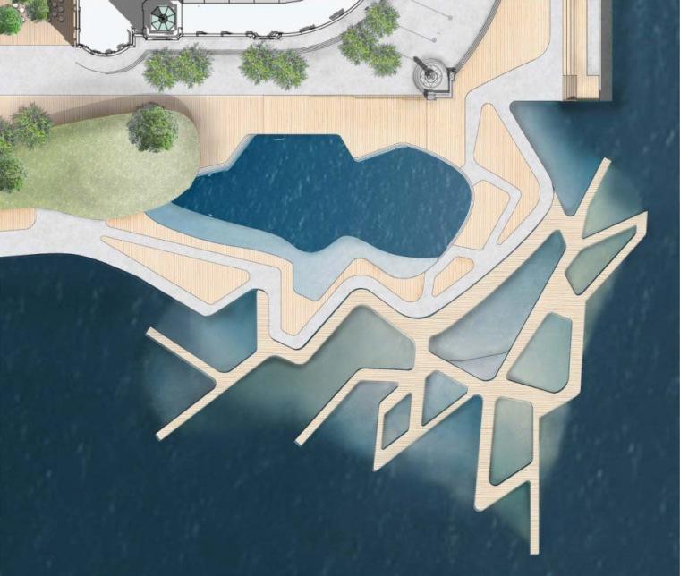 位置平面图 Site Plan-芝加哥海军码头重建方案第22张图片