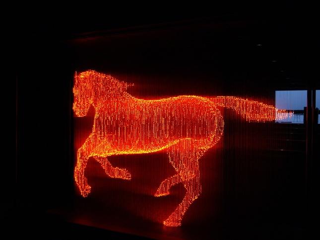 无影LED灯雕塑