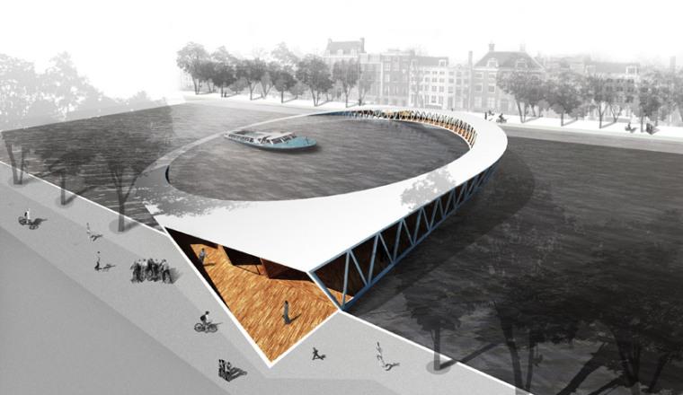 阿姆斯特丹标志人行桥