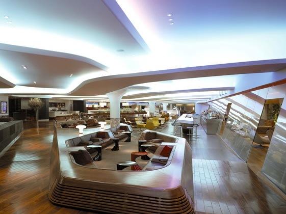 vip休息室平面图资料下载-维珍航空机场贵宾休息室