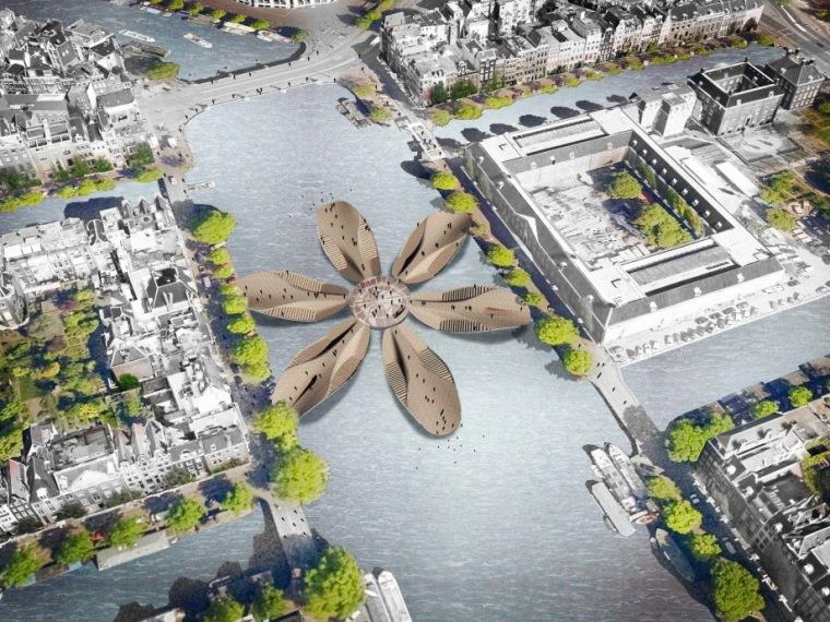 阿姆斯特丹标志人行桥设计方案