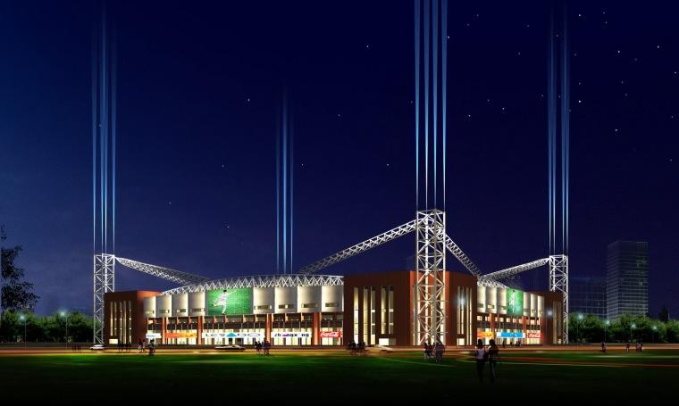 天津松江足球场夜景照明