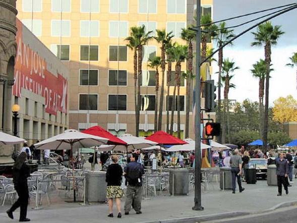 棕榈广场圆形景观