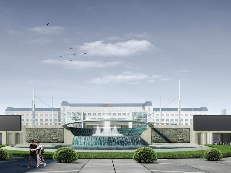 UGC电影城-贝尔西资料下载-长春高铁西客站景观方案设计