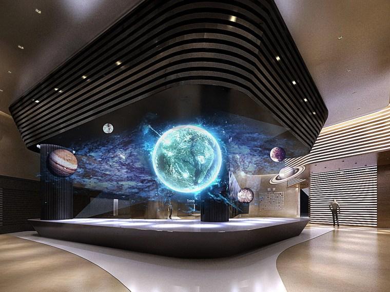 通化市科技文化中心——科技馆室内设计
