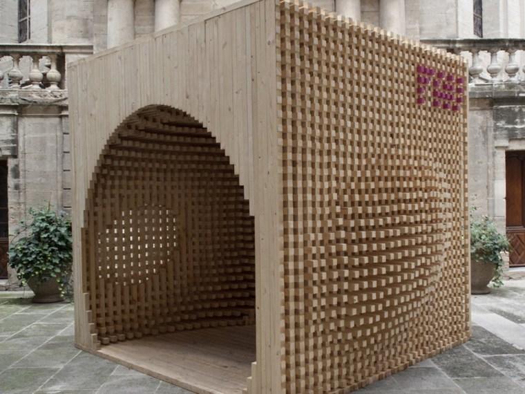 木制艺术迎宾亭