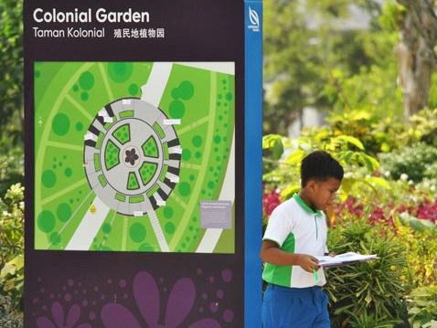 指示牌和花园形象