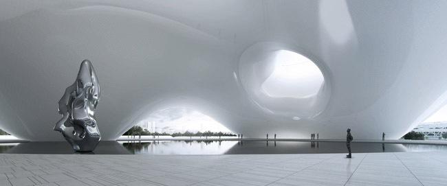 中国国家美术馆新馆竞赛方案之一第4张图片