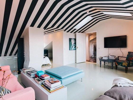 混搭风格时尚复式住宅