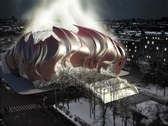 俄罗斯普斯金剧院立面改造