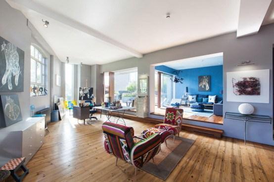 1-伦敦艺术公寓室内装饰设计第2张图片