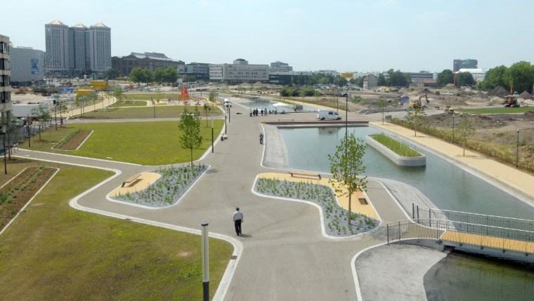 德国杜伊斯堡埃森大学校园公园景观设计