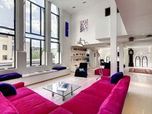 400平loft风色彩混搭公寓装修