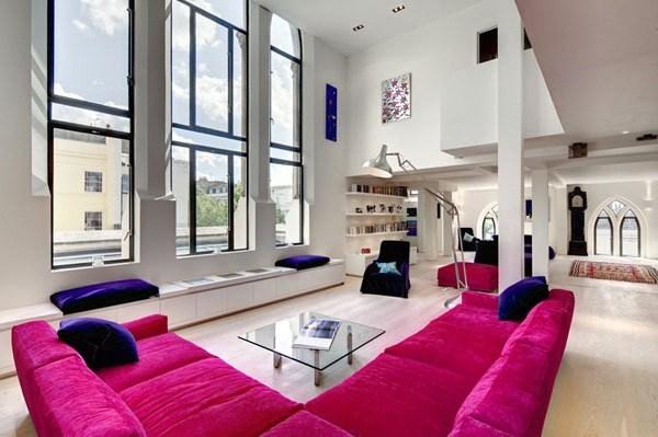 1-400平loft风色彩混搭公寓装修第2张图片