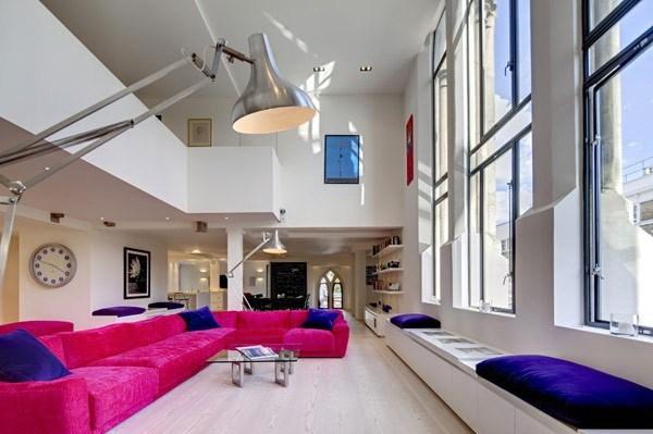 2-400平loft风色彩混搭公寓装修第3张图片