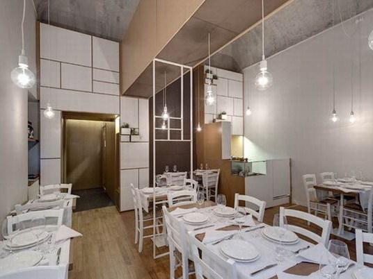 白色现代传统餐厅装修设计
