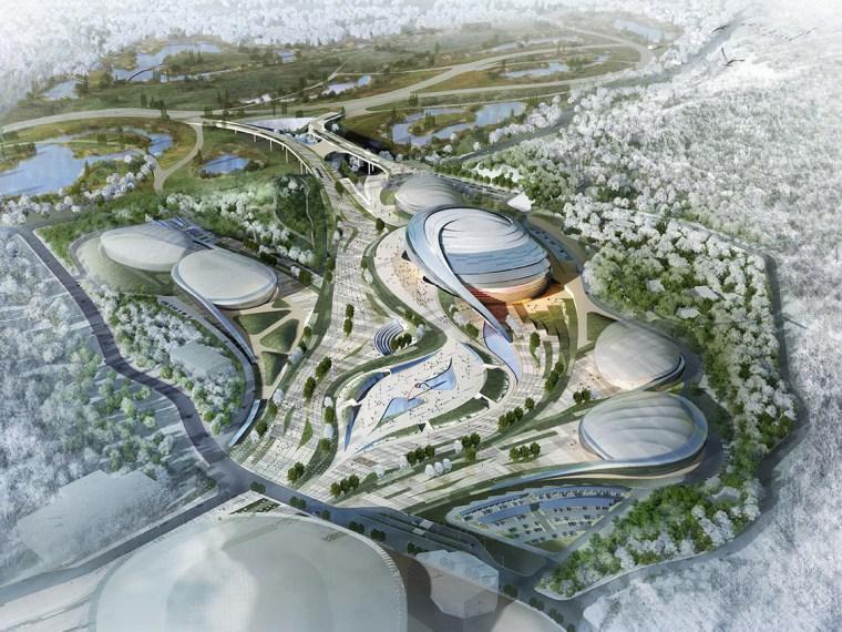 2018年平昌速度滑冰室内体育场提案