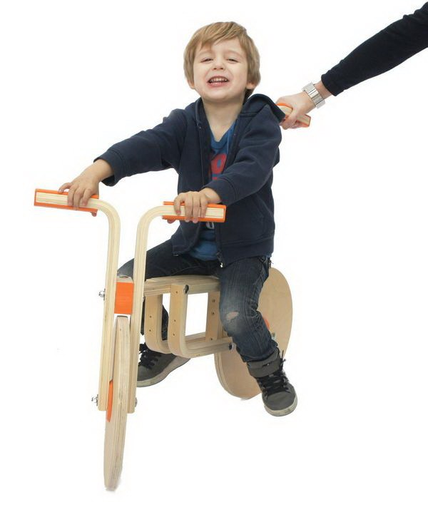 """把凳子变成儿童自行车,创意无限""""玩""""宜家第3张图片"""