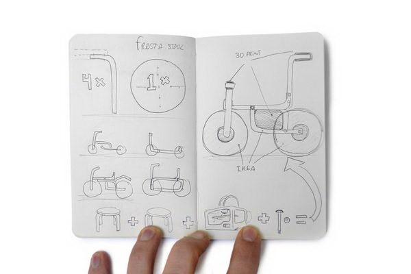 """把凳子变成儿童自行车,创意无限""""玩""""宜家第4张图片"""