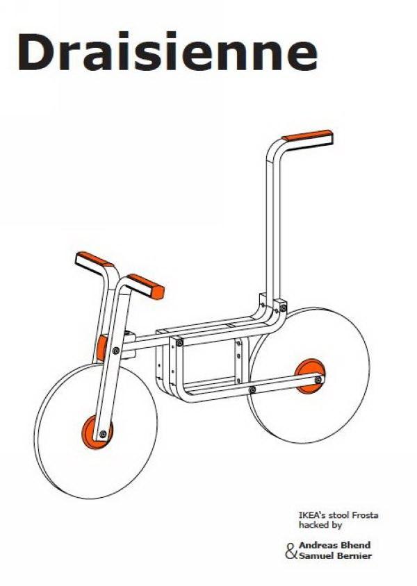 """把凳子变成儿童自行车,创意无限""""玩""""宜家第6张图片"""