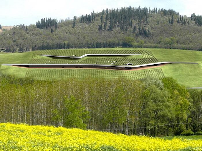 Antinori酒庄屋顶是一个葡萄园第1张图片