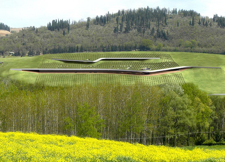 Antinori酒庄屋顶是一个葡萄园第2张图片