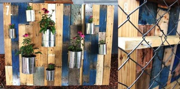 废弃托盘制成的垂直花园第7张图片