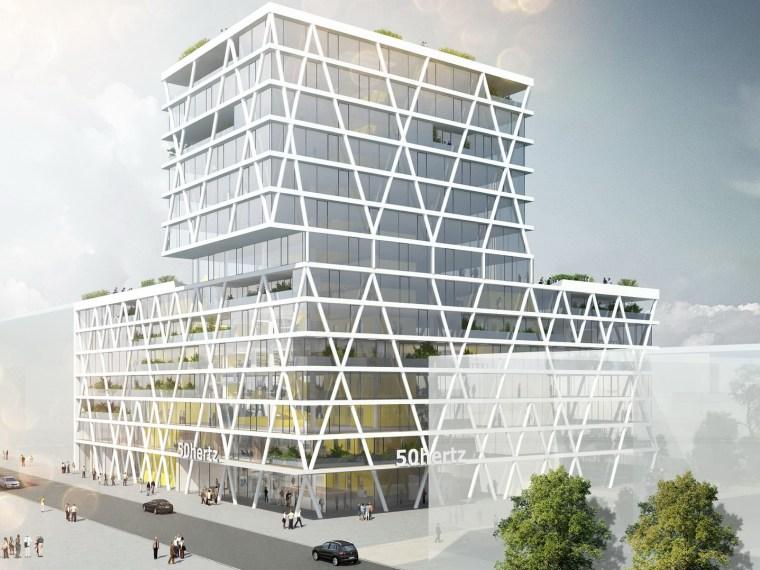 ICADE总理府新办资料下载-50Hertz总部大楼设计获胜方案