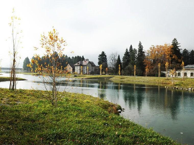 工业景观改造 下游工厂池塘