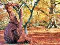 用柳树编织强大的雕塑