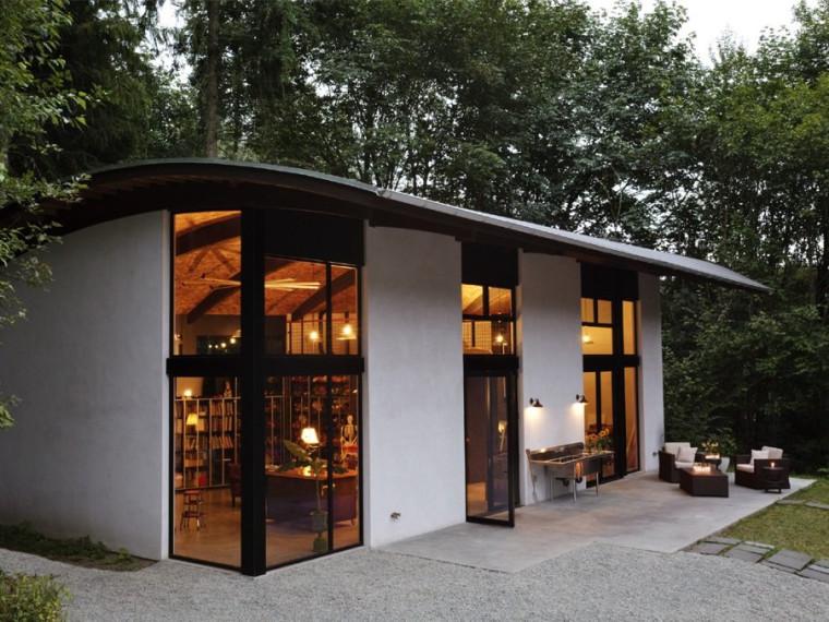 西雅图弧形屋顶房屋